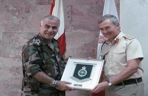 Gen. Nicholas Houghton with Gen. Jean Kahwaji