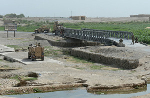 The Basharan bridge in Helmand province [Picture: Sergeant Barry Pope RLC, Crown copyright]