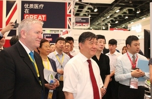 Mr Chen Zhu visited the 'Healthcare is GREAT' showcase with Brian Gallagher.