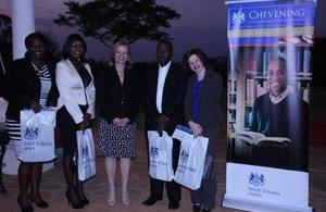 Ambassador Bronnert at a reception for 2013/14 Chevening Scholars