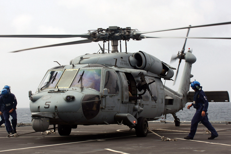An HH-60H Seahawk helicopter