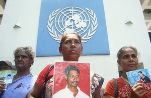 In Sri Lanka, thousands of people disappeared during the war.