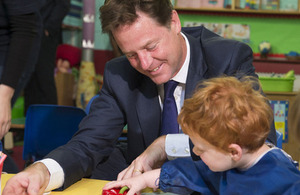 The Deputy Prime Minister visited a school in Hammersmith to deliver a speech on helping working families.