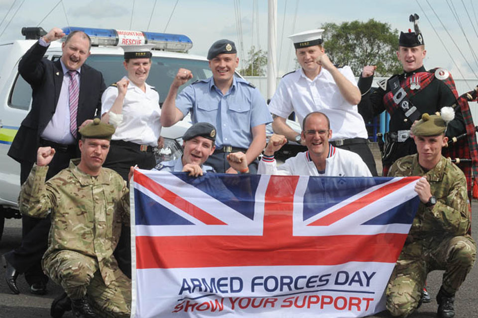 Service personnel supporting Armed Forces Day 2012 at MOD Caledonia in Scotland