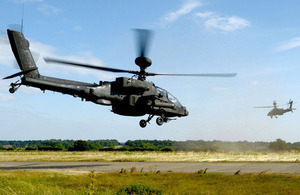 Apache helicopters at Stanford Training Area in Norfolk [Picture: Corporal Andy Reddy RLC, Crown copyright]