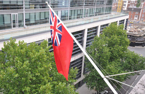 Merchant Navy Day flag