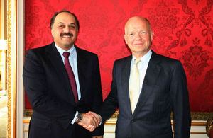 The Foreign Secretary today met the Foreign Minister of Qatar, Dr Al Attiyah, at Lancaster House