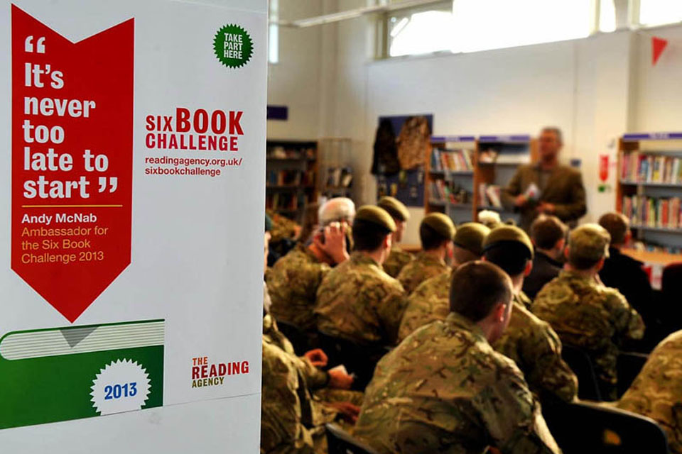 The Six Book Challenge builds reading confidence and literacy skills, improving soldiers' life chances