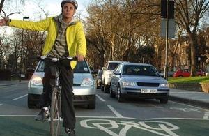 Cyclist turning