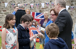 His Royal Highness The Duke of York attends the Children's Jubilee Garden Party at the Old Manse, RAF Lossiemouth
