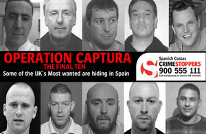 Crimestoppers launches appeal for the final ten Operation Captura fugitives wanted in Spain