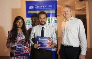 The scholars were welcomed to the Chevening Scholarship Scheme by the Acting High Commissioner.