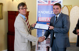 Chevening scholarship recepient from Belarus