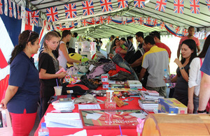 Members of staff at the High Commission donated old clothes, books, bags, shoes and other bric-a-brac that was sold at their booth to raise funds