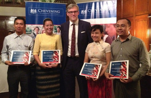 Chevening Scholars for 2013-2014