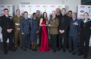 Members of the Armed Forces with a Judges' Special Recognition Award for their role in the London Olympics [Picture: Arthur Edwards, Copyright The Sun]