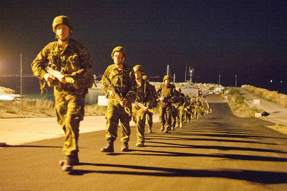 Army medics on a 7km tab