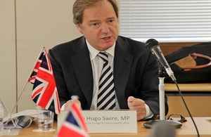 UK Minister Hugo Swire