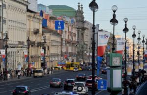 G20 flags in St Petersburg
