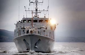 Royal Navy minehunter HMS Blyth