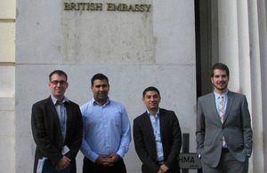 Fellows' visit at the British Embassy Budapest
