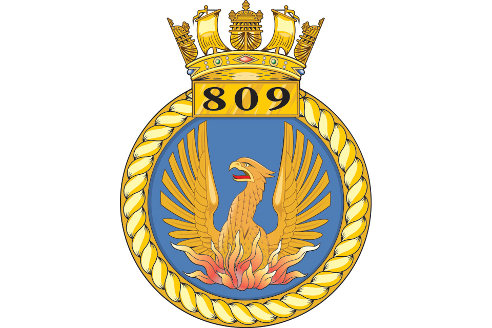 The 809 Naval Air Squadron crest