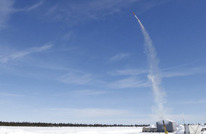 Sea Ceptor missile trial in Sweden [Picture: Copyright MBDA UK Ltd]