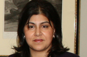 Senior UK Minister Baroness Warsi