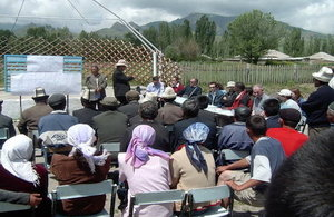 Community development meeting in Kyrgyzstan