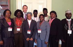 Members of the Nigerian Ministry of Foreign Affairs 36 + 1, and Simon Fraser, Permanent under Secretary at the Foreign & Commonwealth Office