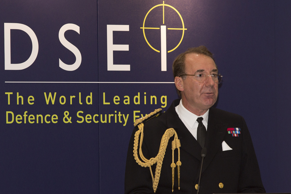 First Sea Lord Admiral Sir George Zambellas