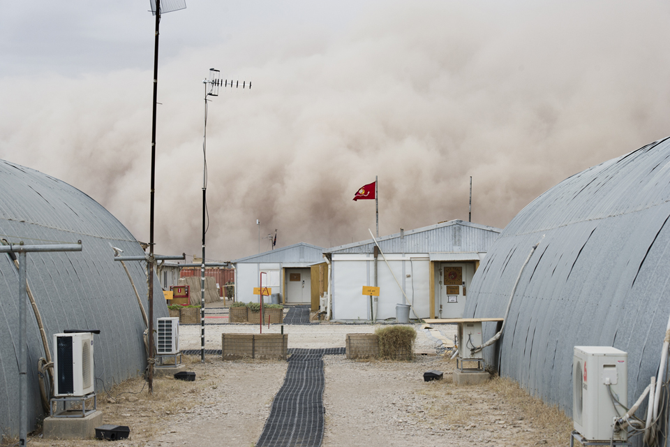 Sand storm at Camp Bastion