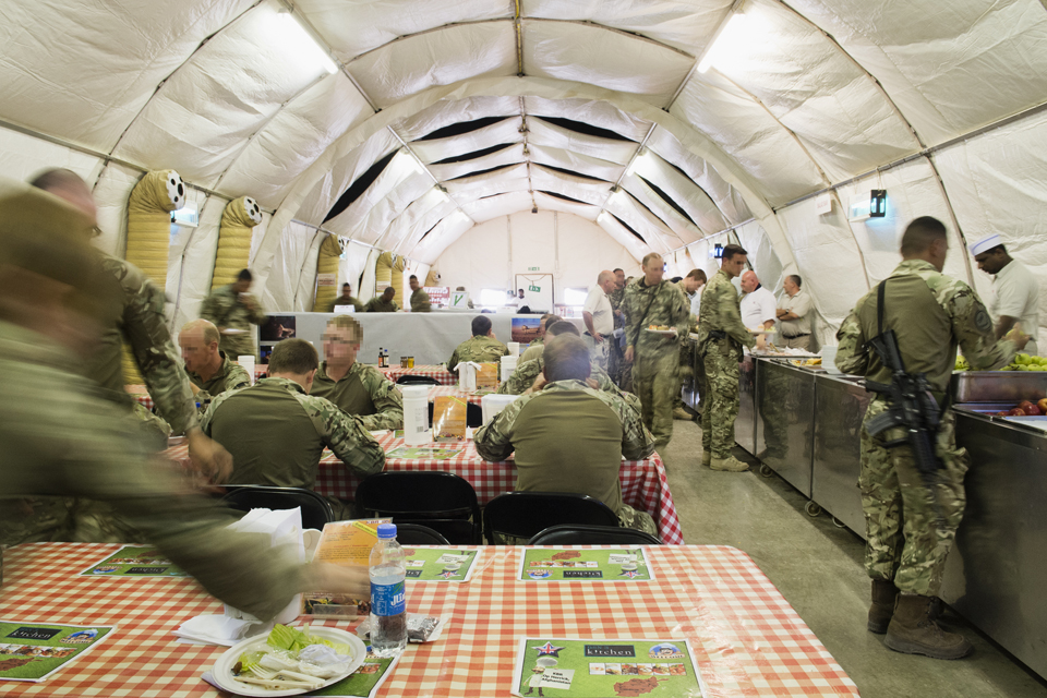 The dining facilities at Camp Bastion