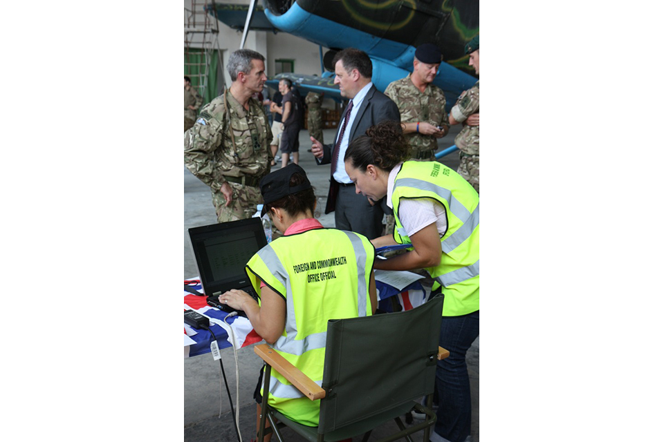 """Albanian Lion 13"" - UK local Embassy Staff involved in a non-combatant evacuation operation (NEO) in Kuçova."