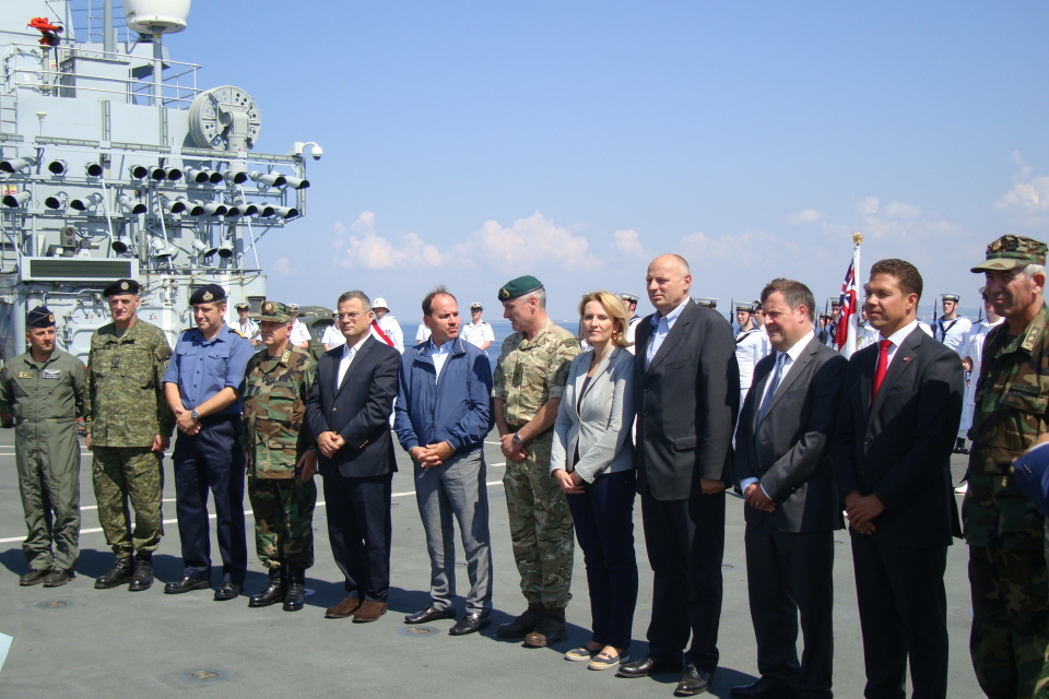 """Albanian Lion 13""- DV Day, VIP Guests on board HMS Illustrious."