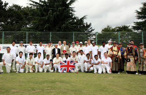 British Embassy XI vs Tohoku XI Friendship Cricket Match in Fukushima