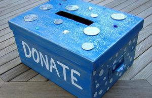 A charity box