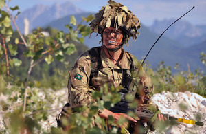 A British soldier equipped with a personal role radio (library image) [Picture: Crown copyright]