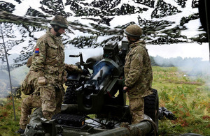 Troops from the 7th Parachute Regiment Royal Horse Artillery fire a 105mm Light Gun [Picture: Corporal Obi Igbo, Crown copyright]
