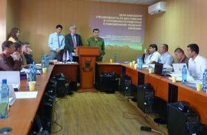 Mark Woodham giving opening speech during seminar