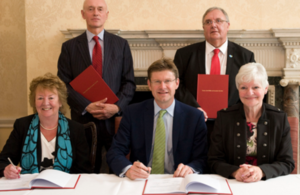 Financial Secretary Greg Clark signs Preston City Deal