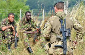 Soldiers from 1st Battalion The Rifles training ahead of their deployment to provide training and mentoring for the Malian Army [Picture: Corporal Steve Blake, Crown copyright]