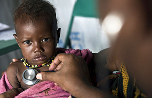 A malnourished baby receives treatment in an intensive care ward at Dadaab refugee camp.