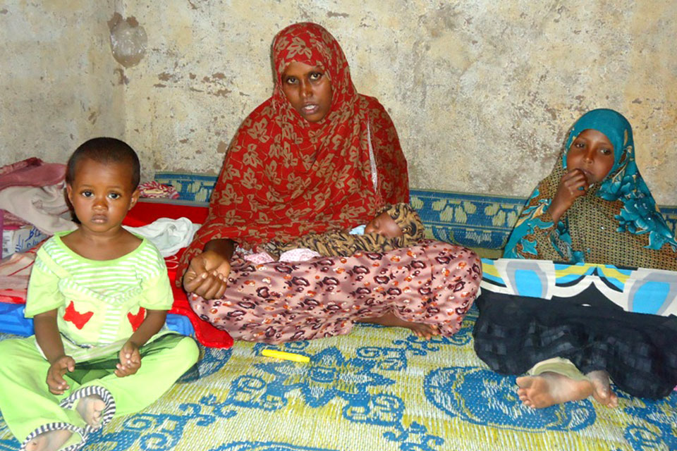 Lucky to be alive - Farhiya pictured with her 3 children.
