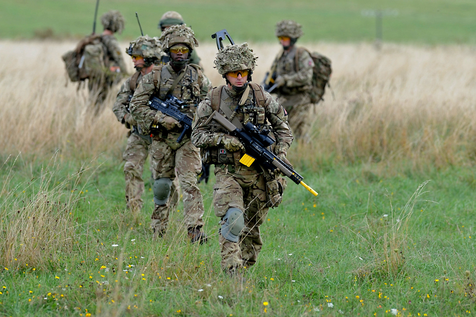 Troops from 3rd Battalion The Mercian Regiment on a foot patrol