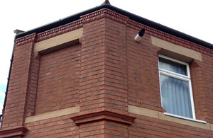 An example of external wall insulation