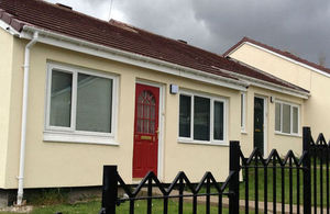 Housing with external wall insulation