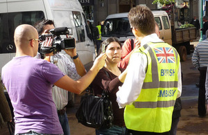 FCO Consular staff being interviewed