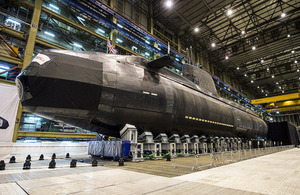 Artful, the latest Royal Navy Astute Class submarine, is unveiled in Barrow-in-Furness [Picture: Andrew Linnett, Crown copyright]