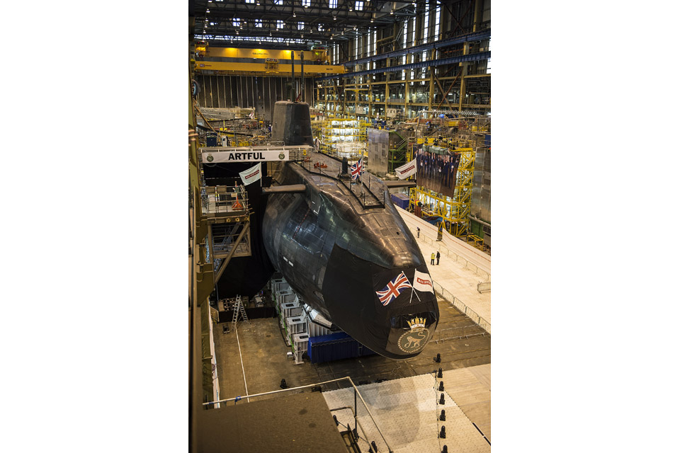Artful, the latest Royal Navy Astute Class submarine